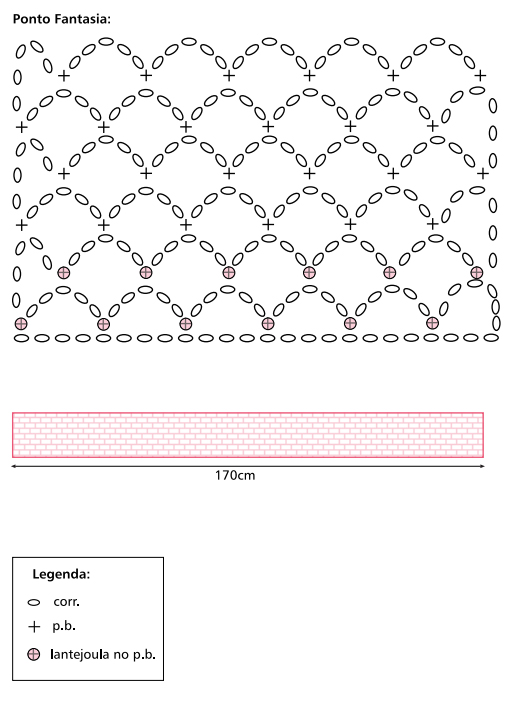 Cachecol em Croche Grafico