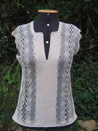 d914d9b402ded Receita Blusa Renda Tricô - Blog do Bazar Horizonte
