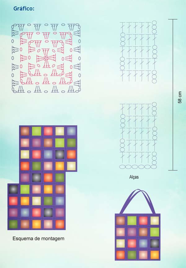 bolsa-azul-quadrados-coloridos-grafico