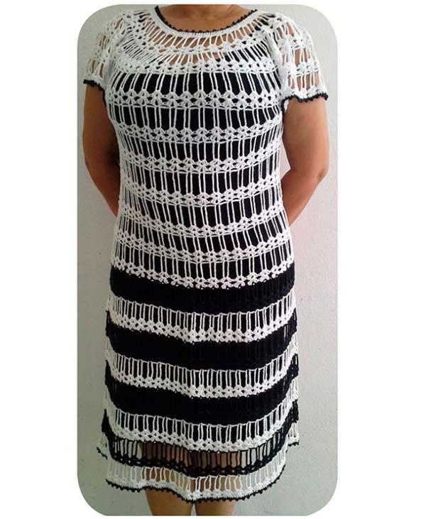 636cc2f8c Receita Vestido Preto e Branco - Camila Fashion - Blog do Bazar ...