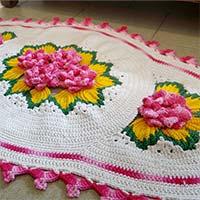 tapete-flores-rosas-amarelo-mini