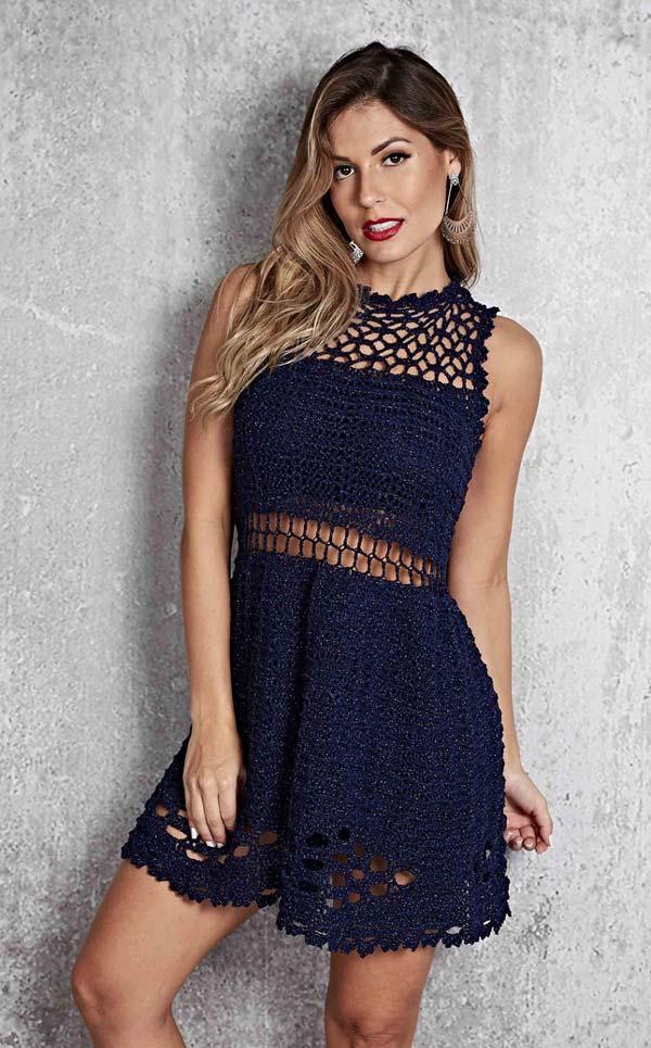 Receita-Vestido-Azul-Linha-Fashion