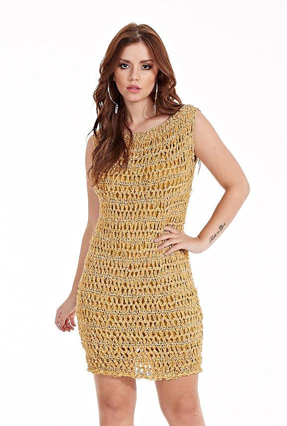 Receita-Vestido-em-Crochê-de-Grampo-linha-Vibrante