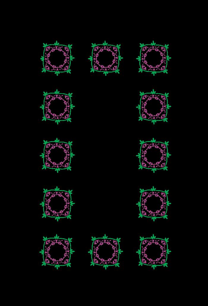 grafico-croche-Tapete-Trento-Cinza-Flores