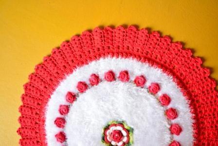 Tapete-Redondo-Decore-Branco