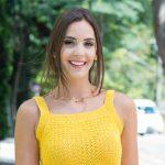 Regata de Crochê Amarela com Leques - Linha Camila Fashion