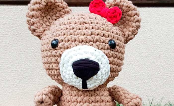 Urso Amigurumi Grande no Elo7 | Coração no Céu (11A50E9) | 426x700