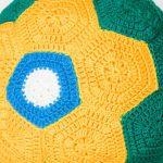Bola de Crochê Brasil - Linha Camila Mais