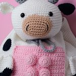Mochila de Crochê Vaquinha - Fio Bella Arte