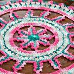 Centro de Crochê Mandala de Mesa - Barbante MultiArte