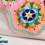 Manta de Crochê Frida's Flowers - Barbante Milano