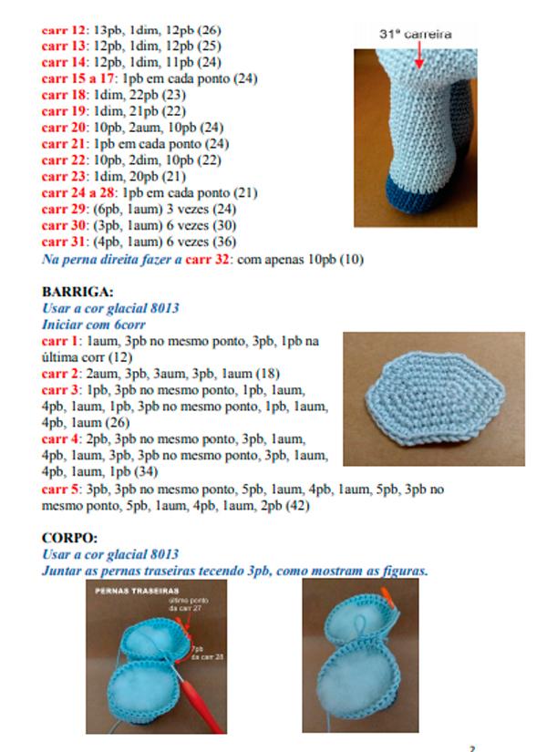 Receita Unicórnio de Amigurumi Jolly | Bonecas de crochê ... | 825x600