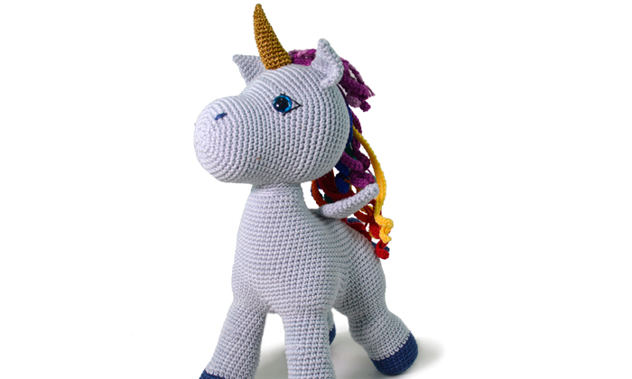 Amigurumi Unicornio Coton con patrón | Terapia Ganchillera | 420x700
