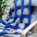 Manta de Crochê com Squares - Barbante EuroRoma