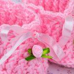 Sapatinho Rosa Mimoso de Crochê - Fio Cisne Bebê Todo Dia