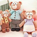 Boneco de Crochê Família Urso - Fio Balloon