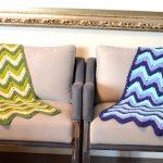 Mantas de Crochê Verde e Azul - Barroco Maxcolor