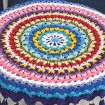 Toalha Mix Cores de Crochê - Barbante Barroco Maxcolor