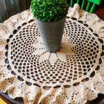 Toalha de Mesa de Crochê Porcelana - Fio Duna