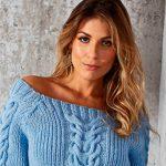 Blusa Céu Azul de Tricô - Fio Alice