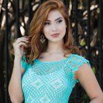 Blusa Verde de Crochê - Linha Mirella