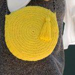 Bolsa Redonda Amarela de Crochê - Fio Cisne Splash