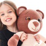 Boneco de Crochê Urso Lilica - Fio Lollipull