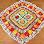 Toalha Multicolorida de Crochê - Linha Anne 500
