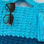 Maxi Bolsa de Crochê Céu Azul - EuroRoma EcoMalha