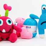 Boneco de Crochê Monstrinhos - Pingouin Bella