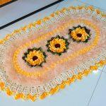 Tapete Raio De Sol de Crochê - Barroco Maxcolor
