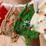 Mini Árvore de Natal de Crochê - Fio Família