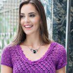 Blusa Roxa Com Pala Em Leques – Linha Camila Fashion