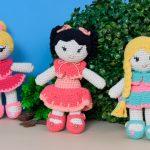 Receita Bonecas de Amigurumi com Linha Fiore