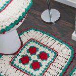 Jogo de banheiro Natal de Crochê - Linha Camila Mais