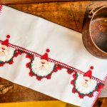 Pano De Prato Papai Noel - Linha Cléinha