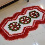 Tapete Rubi Vermelho de Crochê - Barroco Multicolor Premium