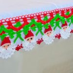 Barrado Papai Noel de Crochê - Linha Anne
