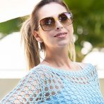 Blusa de Crochê Azul Claro - Linha Camila