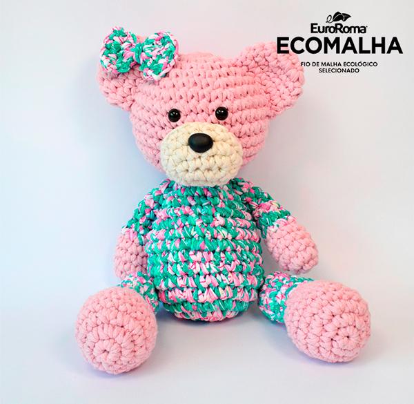 Ursinha Amigurumi #amigurumi #ursadecroche #ursoamigurumi ... | 585x600