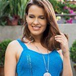 Regata Azul de Tricô - Linha Camila Fashion