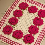 Tapete retangular com flores - MultiArte Solida