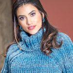 Receita Blusa de Tricô Azul com Lã Cisne Betina