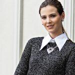 Receita Blusa de Tricô Preta com Brilho com Lã Cisne Luminous