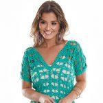 Receita Blusa de Crochê com Barroco Maxcolor