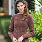 Receita Vestido Marrom de Tricô com Lã Cisne Milly
