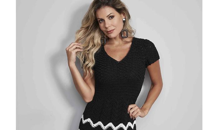 0b88186bc Receita Vestido Preto e Branco com Linha Verano - Blog do Bazar ...