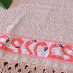 Receita Macramê Toalha de Banho Rosa com Linha Monalisa