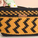 Receita Necessaire de Crochê com Barbante Colorido EuroRoma Nº06