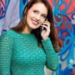 Receita Body Verde Esmeralda com Lã Cisne Hobby